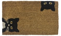 Entryways Peeping Cats Hand-Stenciled, All-Natural Coconut Fiber Coir Doormat, X X Cat Lover Gifts, Cat Gifts, Cat Lovers, Crazy Cat Lady, Crazy Cats, Coir Doormat, Curious Cat, Cat Face, Colorful Rugs