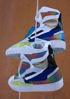Raf Simons (holographic space sneakers)