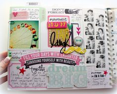 August Memory planner pages @kimjeffress @heidiswapp #heidiswapp #projectlife