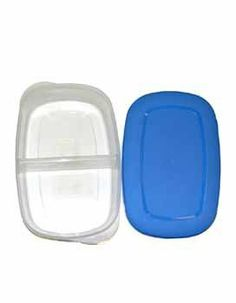 """2 Section Container Case Pack 96 - 242818 by DDI. $272.40. This double section storage container is tight sealing, keeps in freshness and has an easy open lid. Each container is equally divided in half. Great for storing leftovers or packed lunches. Lids comes in assorted colors including neon green and orange. Each container is packed loose. Measures 9 1/2"""" x 6 1/4"""" with a depth of nearly 2""""."""" Case Pack 96 Please note: If there is a color/size/type option, the option..."""
