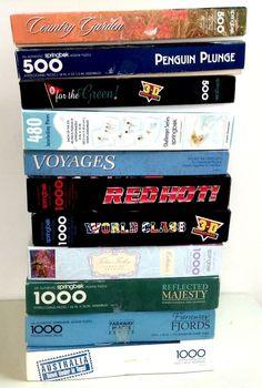 Vintage Lot of 11 Springbok Jigsaw Puzzles 480 - 1000 Pieces (Lot 2) #Springbok