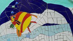Ricardo Stefani y Julia Gurwicz Mural mosaico UN MAR DE JUEGOS