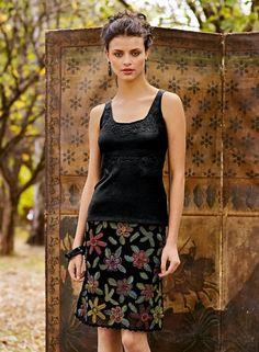 Очарование ирландского кружева - A crochet skirt from Peruvian connection