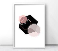 Wall Art Printable Geometric Art Print Digital Download Art