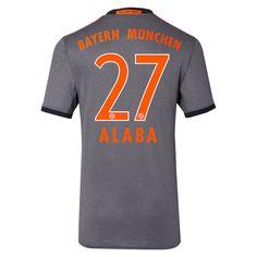 Bayern Munchen 2016/17 Away Men Soccer Jersey ALABA #27