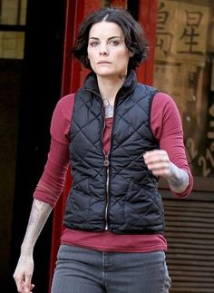 """BLIND SPOT JAIMIE ALEXANDER VEST JACKET http://www.fitjackets.com/products/Blind-Spot-Jaimie-Alexander-Vest-Jacket.html Holly Wood Movie """"Blindspot"""" women vest jacket Worn by jaimie alexander available at fitjackets.com discounted price with free shipping & gift!!"""
