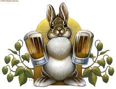 Bunny Hops Beer by kyoht.deviantart.com on @deviantART