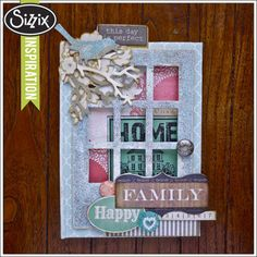 Sizzix Die Cutting Inspiration | Happy Family Mini Book by Aida Haron