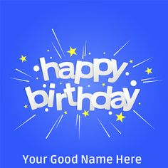 Birthday Wishes Designer Whatsapp Image With Name.Name Birthday Card Maker.Customized Bday Wish Card With Custom Name.Print Name on HBD Wishes Profile Photo