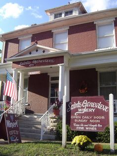 Sainte Genevieve Winery in Missouri | VisitMO.com. About an hour outside of Cape Girardeau, MO. They offer 22 handcrafted wines for sampling and purchases; also offer an array of fruit wines from their vineyard.