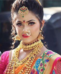 34 Ideas Full Face Makeup Wedding Make Up Bridal Makeup For Brunettes, Bridal Makeup Looks, Wedding Makeup, Bridal Hairstyle Indian Wedding, Indian Bridal Makeup, Wedding Hairstyles, Beautiful Indian Brides, Beautiful Girl Image, Curvy Girl Lingerie