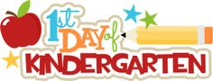 1st Day Of Kindergarten SVG scrapbook title pencil svg file free svgs school svg cut files