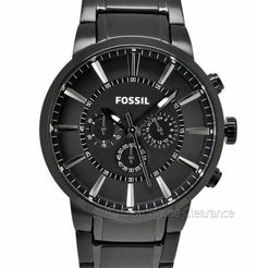 Fossil Mens Chronograph Watch With Black Ion Finish (NEW) 3 Sub Dial - $145 MSRP | GearHouseClearance.com  http://www.gearhouseclearance.com/servlet/the-Watches/Categories