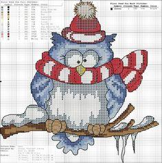 free owl cross stitch patterns   89d4c66e747d5cd18216b189e4eacbac.jpg 693×700 pixels