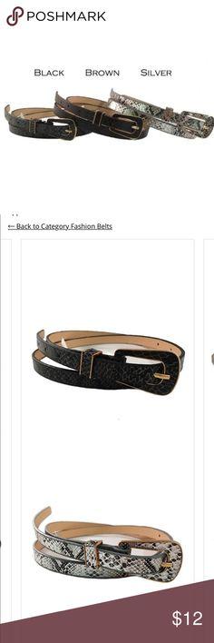 Black Brown Silver Snakeskin Dress Jean Belts Black Brown Silver Snakeskin Dress Jean Belts Accessories Belts