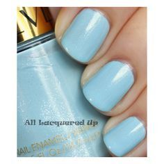 ALU's 365 of Untrieds - Revlon Blue Lagoon | All Lacquered Up ❤ liked on Polyvore
