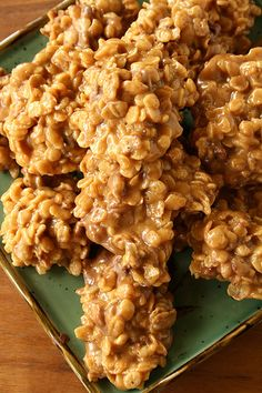 I'm making with Corn Flakes rather than Special K  http://www.suziethefoodie.com/no-bake-stovetop-peanut-butter-special-k-cookies/