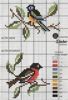 cross stitch chart | Cross-stitch | Pinterest | Needlework, Charts and Birds