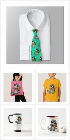 Cute Cartoon Raccoon Playing Violin T-shirts, accessories and more by Cheerful Madness!! at Zazzle #cartoon #cheerfulmadness #raccoon #violin #violonist #tshirts #kawaii #cute #nerd #geek #animation #comics #fun #zazzle #gifts #customizable #smile #accessories #collection #fashion #trickfilm #music #musician #raccoons
