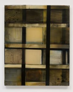 Stefan Annerel HANNAY 2011 acrylic and resin on panel and glass  106 X 86 cm