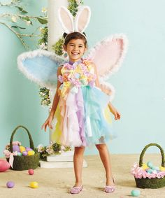 This Easter Fairy Dress - Girls by chasing fireflies is perfect! #zulilyfinds