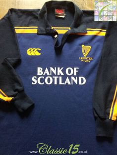 0912803a347 Relive Leinster's 2003/20004 season with this vintage Canterbury home rugby  shirt. Leinster Rugby