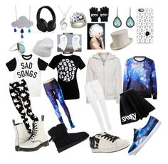 """""""Undertale: Napstablook"""" by notasupervillian on Polyvore featuring DC Shoes, True Religion, WearAll, ASOS, Dr. Martens, Vans, Casetify, Forte Forte, UGG Australia and Child Of Wild"""