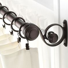 69 Best Double Curtain Rods Images Cafe Curtain Rods Drapery Rods