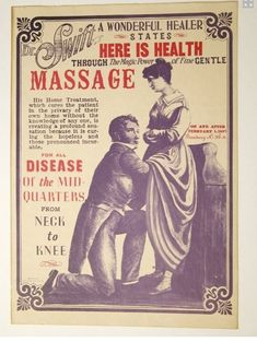Being a Massage Therapist, I think this is not the message I would ever wish to convey in my practice. YIKES!!!
