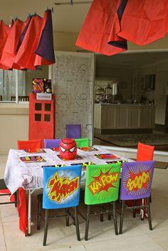 "Superhero / Birthday ""Super James 5th birthday"" | Catch My Party"