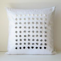 Gradient Pillow Cover 14 x 14 in Silk Ribbon Embroidery by bstudio