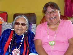 My mom and Grams.  Two beautiful ladies!  #longhouse #nativeamerican #indian #laughing giggles :)♥