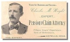 This old business card was made in 1882...