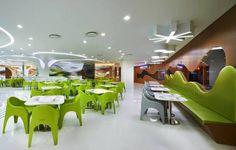 Amoje Food Court, Seoul, South Korea | Design by Karim Rashid via InteriorZine