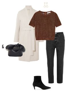 """""""Untitled #1266"""" by violet ❤ liked on Polyvore featuring Vince, Chloé, Madewell, Dagmar, Topshop, Simone Rocha and MAKE UP STORE"""