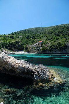 The Adriatic Coast near Hvar, Croatia (by janetyou).