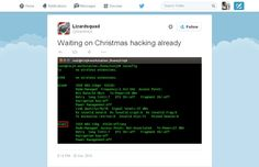(LizardSquad Hacked PSN/Xbox Live On Christmas Day)  Lizardsquad @lizardhack Waiting on Christmas hacking already