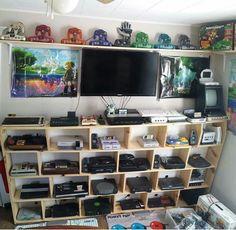 Video game console shelf!  Nintendo Playstation xbox