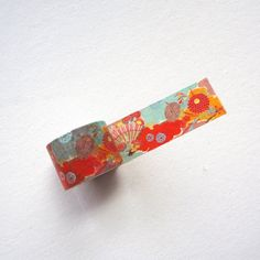 Japanese Traditinal Pattern Washi Masking TapePattern is from Kimono fabric.Width: washi paper, gluePattern repeats every Making Tape, Washi Tapes, Kimono Fabric, Orange Flowers, Japanese, Paper, Japanese Language, Orange Blossom