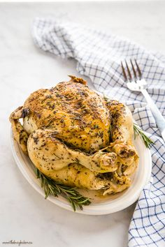 This Instant Pot Roasted Chicken and Gravy is the perfect quick and easy family meal that's on the table in under 45 minutes! Juicy roast chicken with browned skin and velvety gravy - no oven or stovetop required! Recipe from thebusybaker.ca! #roastchicken #gravy #homemade #familymeal #sundaydinner #chickendinner #instantpot #pressurecooker #easy #fast #simple #recipe Roast Chicken And Gravy, Pot Roast, Easy Family Meals, Roasted Chicken, Pressure Cooking, Weeknight Meals, Cooking Time, Instant Pot, Oven