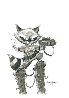 Rocket Raccoon - Jon Sommariva Comic Art