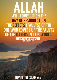 Cover up the sins for others