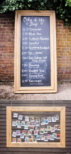 Strange Case | Laura and Andy's Funfair Wedding. Chalkboard Order of Service Wedding Sign - Hand drawn, typography, calligraphy designed by We Are Strange Case - High Wycombe Wedding - Liverpool Design