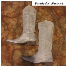 FRYE RIDING BOOTS GRAY SOFT LEATHER FRYE RIDING BOOTS ‼️ SIZE 8 ‼️ GENTLY WORN ‼️ LIKE NEW ‼️ GREAT ADDITION TO YOUR CLOSET ‼️ NO LOWBALL OFFERS ‼️ BUNDLE FOR ADDITIONAL DISCOUNT ‼️ Frye Shoes