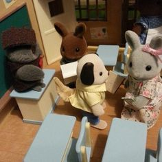 ...others (such as Judy Babblebrook) held onto their results, scared to open them. The boys of the class opened them in a rush and discussed their grades with Professor Treefellow. #sylvaniansummer