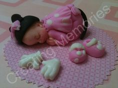 fondant Baby Girl with Hat Cake Topper. $15.00, via Etsy.from shop-anafeke