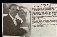 Mr. & Mrs. Hardy-Harr. | 15 Wedding Announcements From Couples With Deeply Unfortunate Names