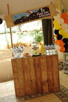 Boys Dirt Bike Themed Birthday Party Drink Station Ideas