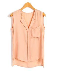 high low sleeveless blouse ++ chicnova