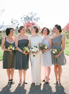 Floral Design: Soulflower Design Studio… Bridal and Bridesmaid bouquets